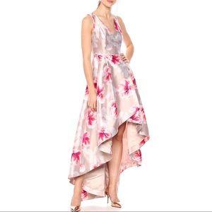 Calvin Klein peonies Ball Gown